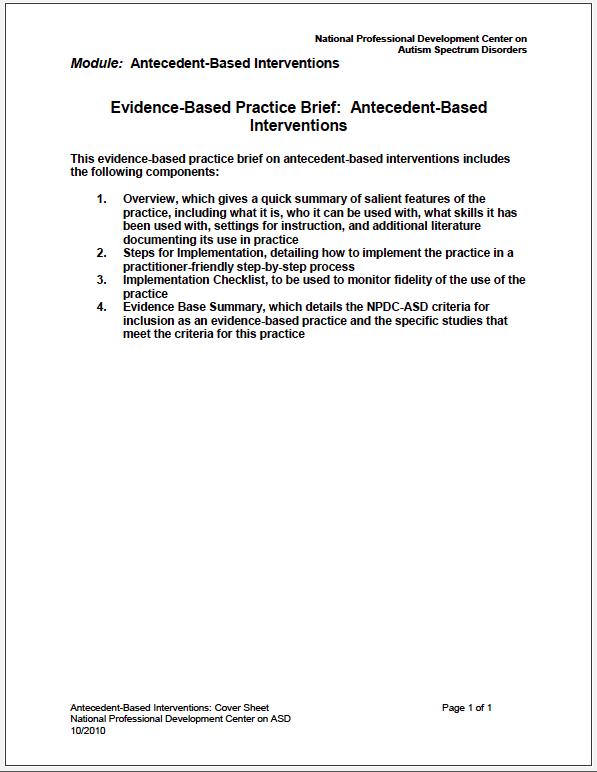 antecedent based interventions abi csesa